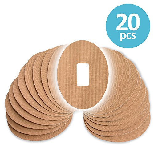 Fixic Dexcom Patches  Adhesive  Oval  Pre Cut Best Fixation For G4 G5  Tan Color  Pack Of 20