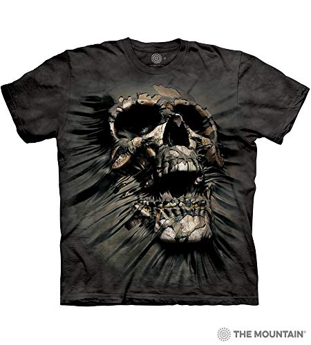 (The Mountain Breakthrough Skull Adult T-Shirt, Black, Large)