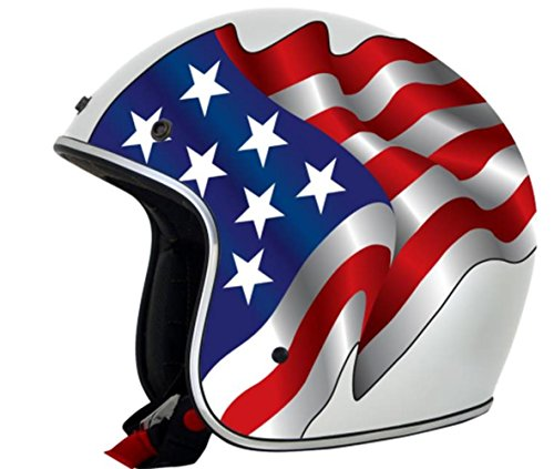 AFX FX-76 Freedom Helmet , Distinct Name: White Freedom, Gender: Mens/Unisex, Helmet Category: Street, Helmet Type: Open-face Helmets, Primary Color: White, Size: 2XL 0104-1635