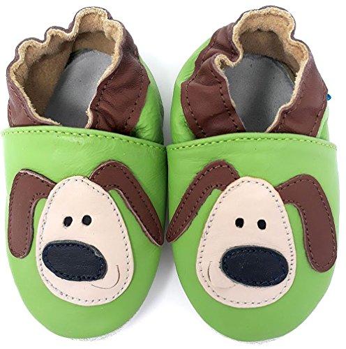 MiniFeet Chaussures bébé en cuir souple, Dexter le Chien