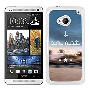 Funda carcasa para HTC M7 frase i am not sorry borde blanco