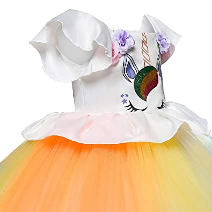a8dd5391af78 THE LONDON STORE Girls Unicorn Colorful Tutu Dresses Children Clothing  Princess for Birthday Carnival Party: Amazon.in: Clothing & Accessories