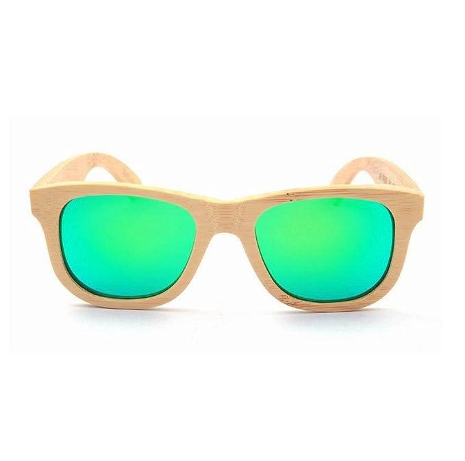 HAOYUXIANG / Bambus / Retro / Polarisation / Freizeit / Sonnenbrille,Green