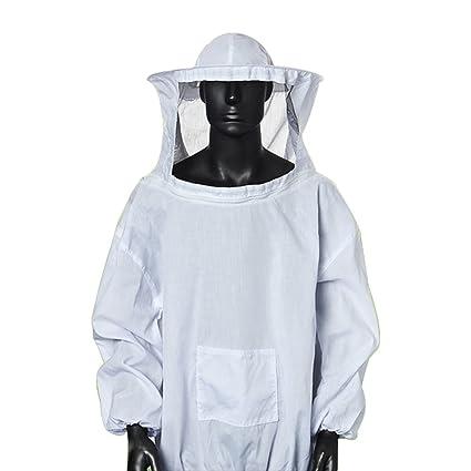 Amazon.com: chengsan Blanco traje de Apicultura, chamarra y ...