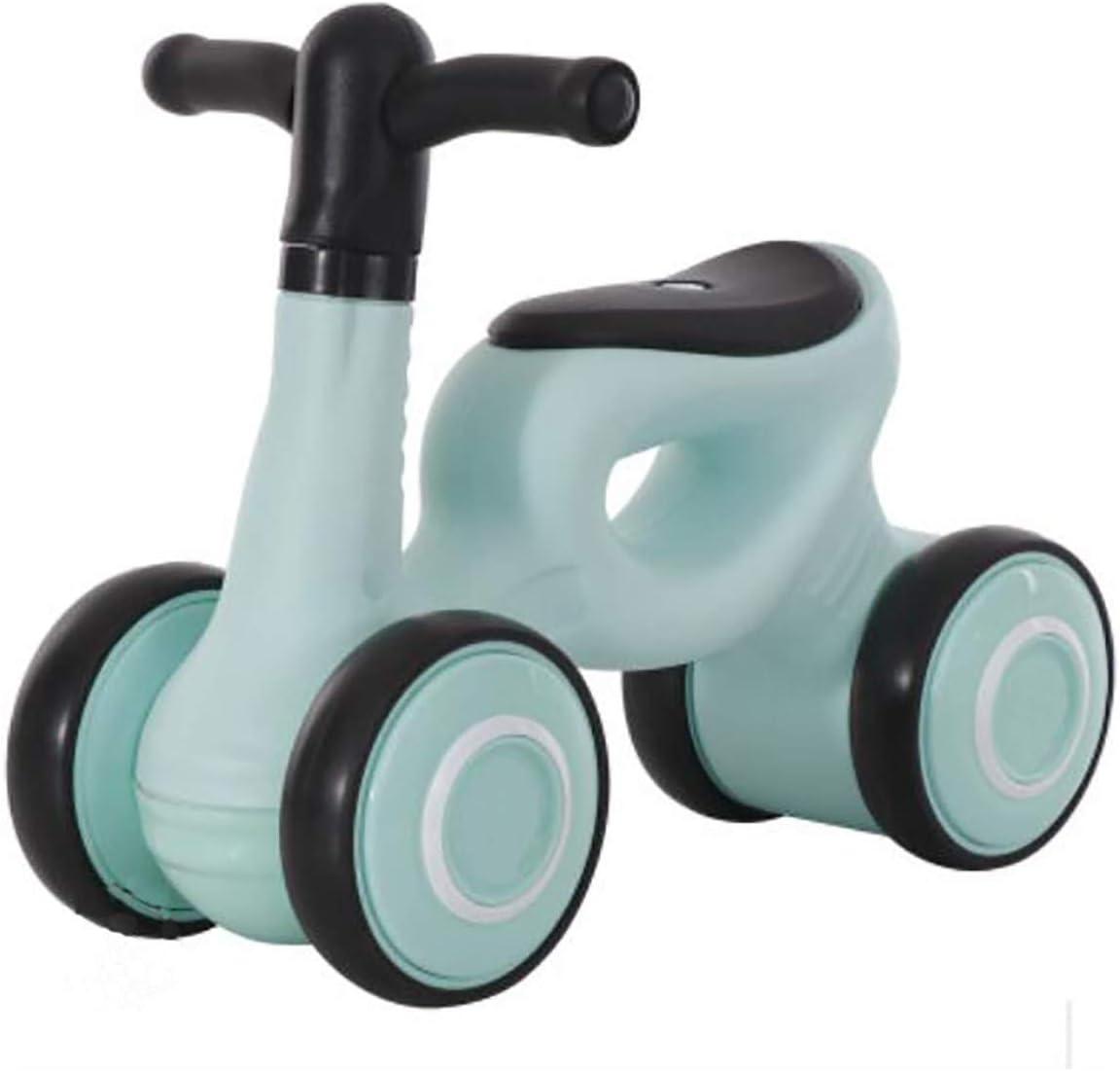 GSAGJyec Baby Balance Bicicleta Bicicleta Paseo en juguetes 1 año de edad Caminante de bebé 6-24 meses Sin pedal 4 ruedas Niño pequeño Bebé Infantil Primer cumpleaños Acción de gracias Interior al air