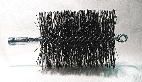 - Tough Guy Flue Brush, Dia 3 1/2, 1/4 MNPT, Length 8