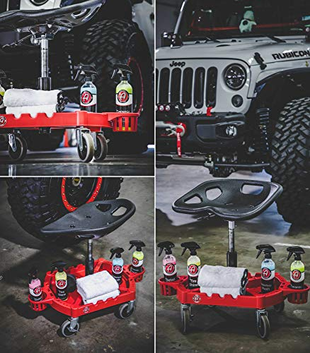 Adam's ProStool Detailing Creeper - Ergonomically Designed for Comfort and Functionality - Adjustable Height and Heavy Duty Rolling Wheels - Comfortably Detail or Paint Correct Any Vehicle by Adam's Polishes (Image #6)