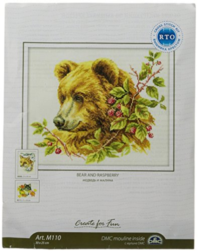 Rto 14 Count Bear Counted Cross Stitch Kit  11 75 By 9 75 Inch