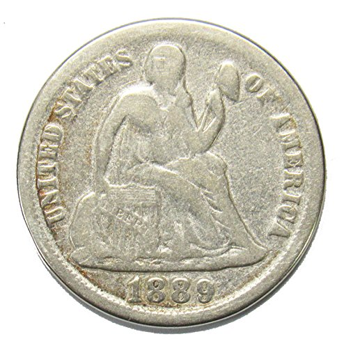 1889 Seated Liberty Dime 10¢ VG+ (1889 Liberty Seated Dime)