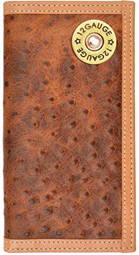 Custom 12 Gauge Shotgun Ostrich Print long checkbook wallet