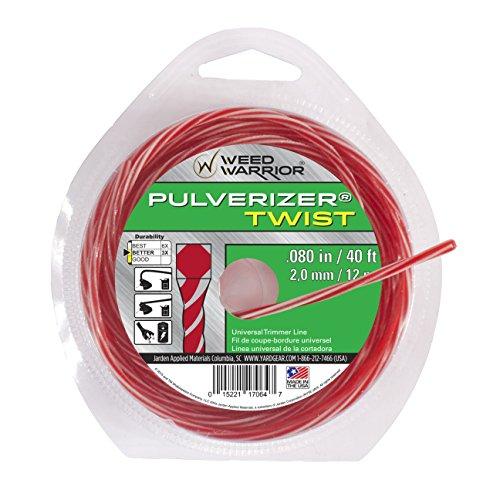 Weed Warrior 17064 Pulverizer Bi-Component Twist Trimmer Lines, 0.080