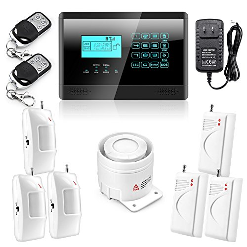Wolf-Guard Touch Keypad Wireless GSM SMS Autodial Smart Home House Security Burglar Alarm System