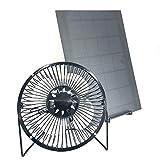 Solar Fan PET 10w 6inch with Iron Holder Powered Fan Ventilation Caravan Camping