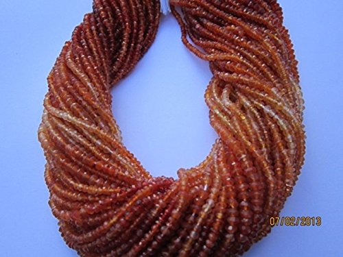 1 Strand Carnelian Micro Faceted Rondelle 3-4mm 13