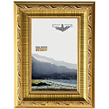 imperial frames 6 by 8 inch8 by 6 inch picturephoto frame dark gold with floral design
