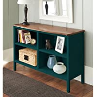 10 Spring Street Hinsdale Horizontal Bookcase, Classic style 2 adjustable shelves (Deep Teal)