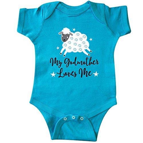 inktastic - Godmother Gift for Godson Infant Creeper Newborn Turquoise 2bf68 ()