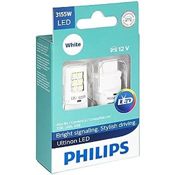 Philips 3155 Ultinon LED Bulb (White), 2 Pack