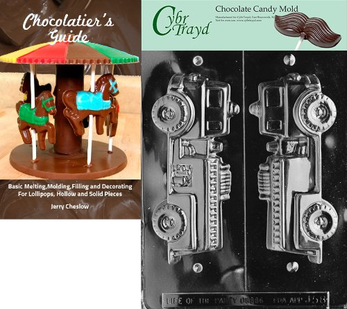 Cybrtrayd 3D Fire Truck Chocolate Candy Mold with Chocolatier