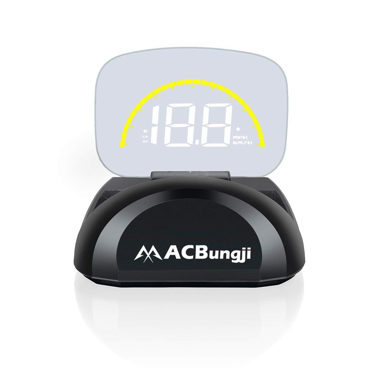 ACBungji Car HUD Head Up Display OBD2 GPS Dual Mode Speedometer Tachometer Projector RPM MPH Over Speed Alarm Voltmeter Water Temperature Warning Auto Truck SUV RV Universal