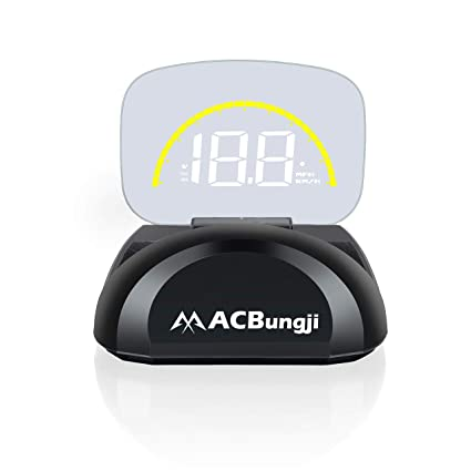 ACBungji Car HUD Head Up Display OBD2 GPS Dual Mode Speedometer Tachometer  Projector RPM MPH Over Speed Alarm Voltmeter Water Temperature Warning Auto