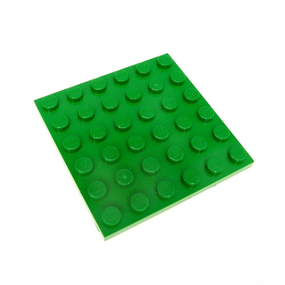 3x Lego Sistema Diseño Placa Verde 6x 6606260083600166073701063958