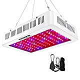 HIGROW 1000W Double Chips LED Grow Light Full Spectrum Grow Lamp with Rope Hanger for Indoor Greenhouse Hydroponic Plants Veg and Flower