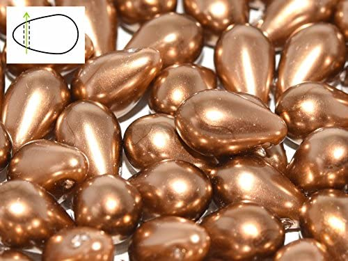 CHOOSE COLOR 30pcs 6x9mm Teardrop Beads Czech Glass