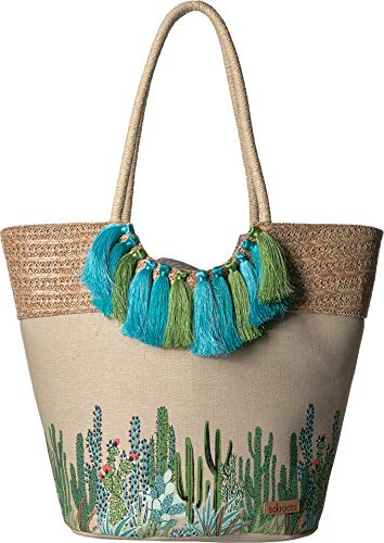 Sakroots Women's Artist Circle Lola Beach Bag Natural Mojave Mirage One Size