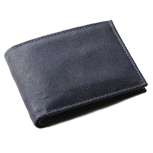 OHM Leather New York Vintage Leather Wallet in Blue Color