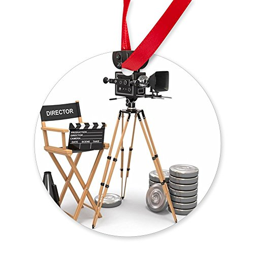 CafePress - Movie Composition. Vintage Camera, - Round Christmas Ornament by CafePress