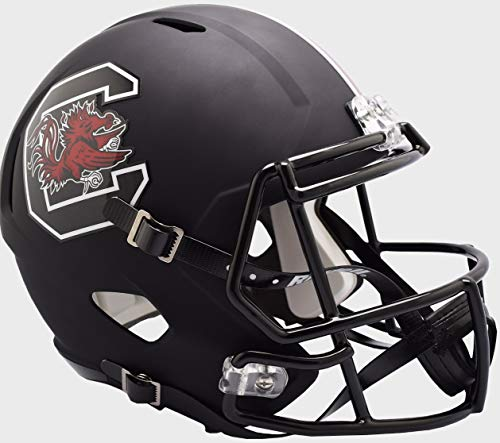 South Carolina Replica Helmet - South Carolina Gamecocks Matte Black Riddell Full Size Speed Deluxe Replica Football Helmet - New in Riddell Box