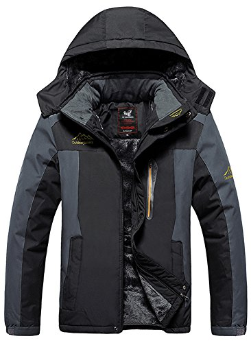 Vêtement De Pêche À vent Ski Imperméable Travail Snowboard Camping Capuche La Chasse Homme Veste Fleece Coupe Noir Mochoose Sport Pluie Outdoor Jacket Et Mountain w6q6FS