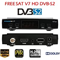 Vipwind FREESAT V7 1080P DVB-S2 TV Box Receiver Digital Video Broadcasting Receiver Set Top Box Support USB PVR EPG for HDTV