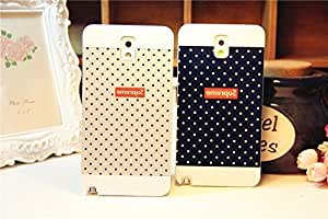 Galaxy Note3 Case,Polka Dot White Back Case Cover for Samsung Galaxy Note3 , 1 piece,Black