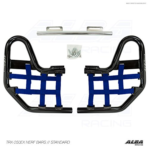2001-2008 TRX250EX SPORTRAX Standard Nerf Bars Compatible with Honda Black Bars Compatible with Honda w//Blue Net TRX 250EX
