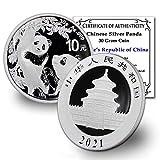 2021 CN 30 gr Silver Panda Coin Brilliant