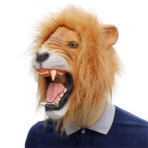 Halloween Horror Mask Lion Shape Headdress Mask Latex Party Mask