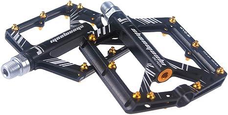 LAIABOR Pedales Bicicleta Pedal Ciclismo Bicicleta De Montaña con Pedales De Aluminio,Black: Amazon.es: Deportes y aire libre