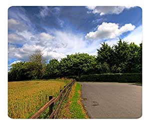 Decorative Mouse Pad Art Print Landscape and Plants Countryside Road 2