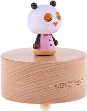 Caja de Música de Animales de Madera Gira Tecla de Cuerda Regalo de Cumplaños para Niña - Panda: Amazon.es: Juguetes y juegos