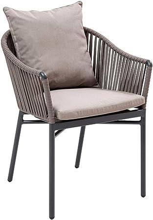 Post Silla - Rattan sillas de Mimbre Cojín Lavable, Conversación Silla de jardín del Patio Trasero Muebles, 63x60x75cm: Amazon.es: Hogar