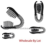60 Pcs ( 5 Dozen )Wholesale Women VINTAGE COMB BANANA CLIP HAIR RISER CLAW INTERLOCKING JAW LOTS
