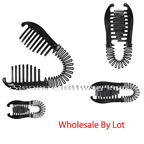 60 Pcs ( 5 Dozen )Wholesale Women VINTAGE COMB BANANA CLIP HAIR RISER CLAW INTERLOCKING JAW LOTS by denimclothingstore2011 (Image #1)