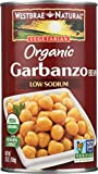 WESTBRAE Natural Vegetarian Organic Garbanzo Beans, 25 Oz