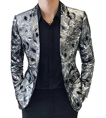 4da4fd23cabf Per Elegante Leisure Il Casual Sportiva Blazer Libero Abbigliamento Silber  Tempo Giacca Uomo Adelina Da UfSqIS