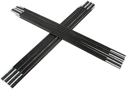 2 x Im Freien Zeltstange Fiberglas Aufstellstangen