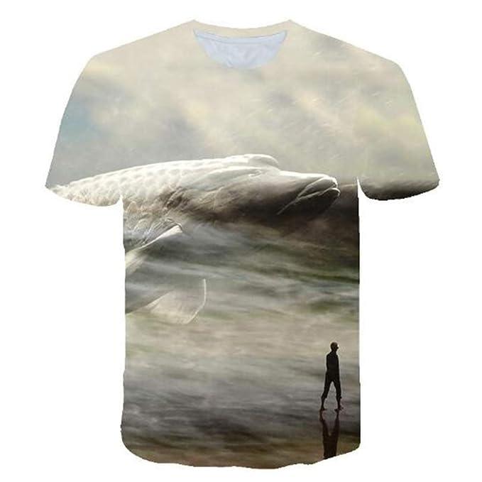 Tops para Hombre Camiseta Hombre Blusa Hombres 3D Impreso