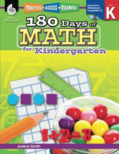 180 Days of Math: Grade K - Daily Math Practice Workbook for Classroom and Home, Cool and Fun Math, Kindergarten Elementary School Level Activities Created by Teachers to Master Challenging Concepts -