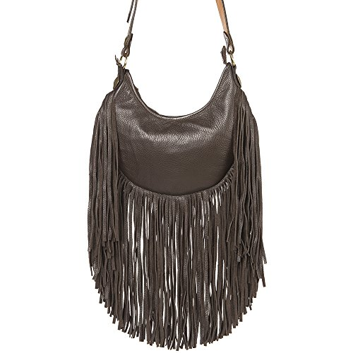 With Stitching Buckskin Bag NRS Crean Double J Womens Hobo qwWSzag